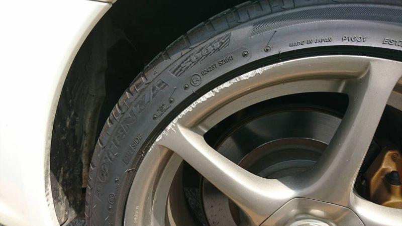 2002 Nissan Skyline R34 GTR MSpec wheel scrape