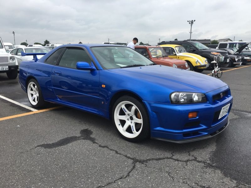 2000 Nissan Skyline R34 GTR VSpec Bayside Blue right front