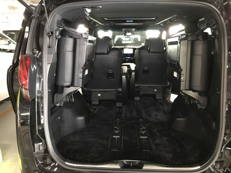2015 Toyota Alphard Hybrid Executive Lounge rear tailgate space