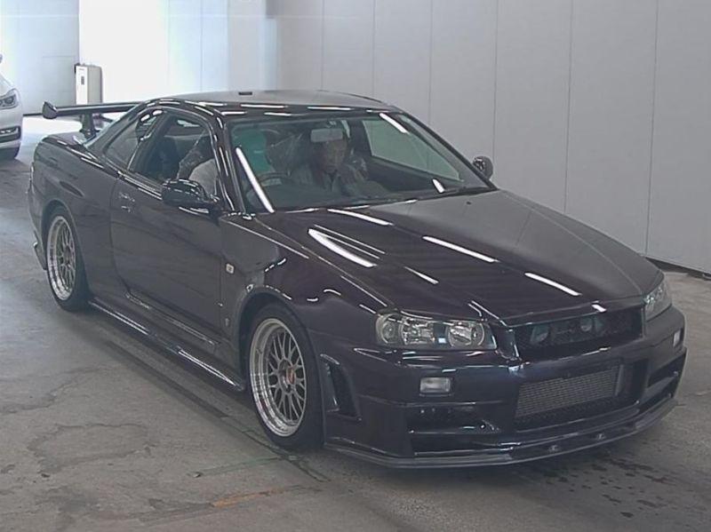 1999 R34 GTR VSpec Midnight Purple II LV4 auction front