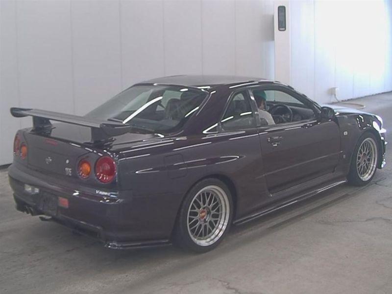 1999 R34 GTR VSpec Midnight Purple II LV4 auction right rear