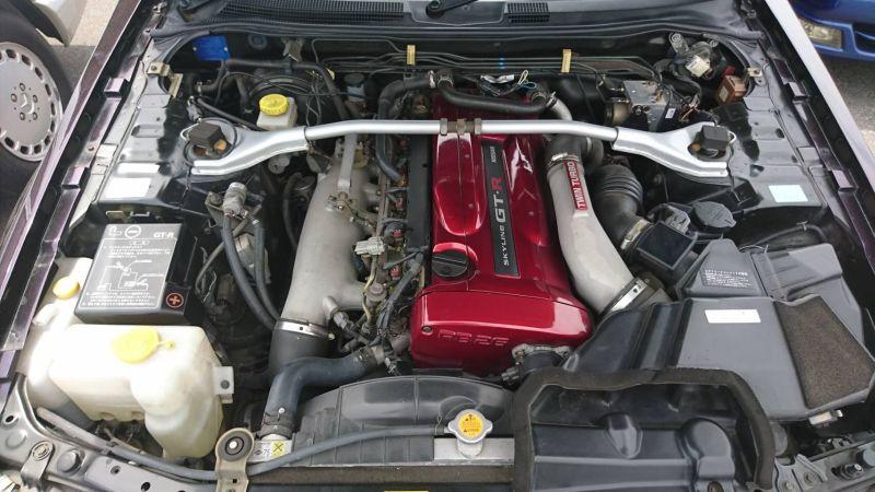 1999 R34 GTR VSpec Midnight Purple II LV4 engine