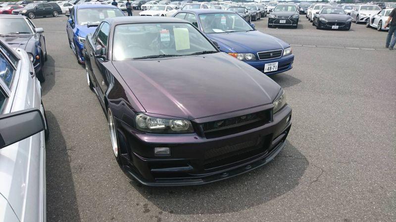 1999 R34 GTR VSpec Midnight Purple II LV4 front