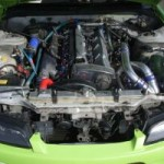Nissan Silvia modified engine bay