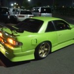 Nissan Silvia modified night rear