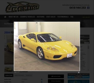 Japanese auction car example image