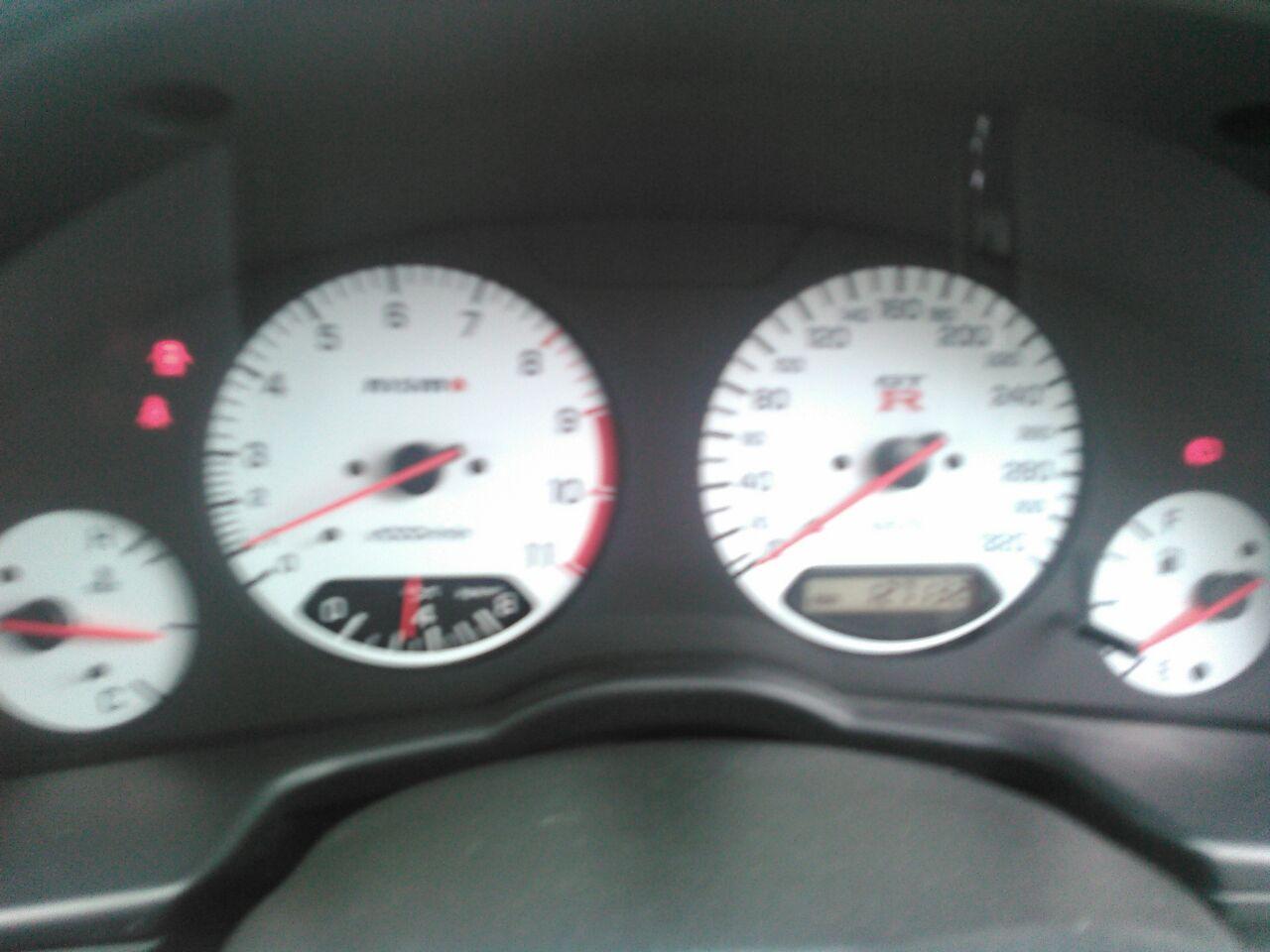 2001 Nissan Skyline R34 GTR VSpec2 white gauges