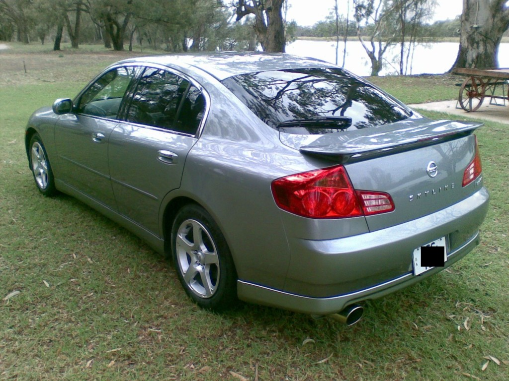 2003 Nissan Skyline V35 350GT-8 Premium sedan rear