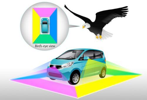 Nissan Elgrand around view monitor birds eye view
