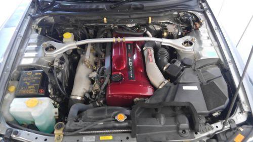 2000 Nissan Skyline R34 GTR V Spec 2 silver engine bay