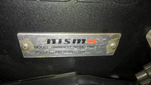 1993 R32 GTR with Fine Spec engine 2009 production plaque