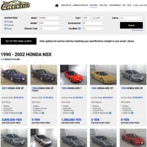 Japan Auction Car Online Search