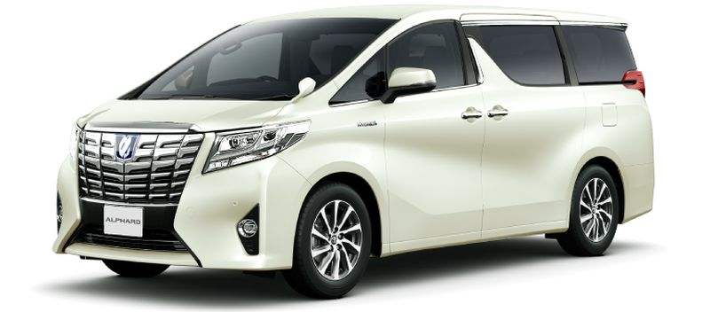 Toyota Alphard and Vellfire 30 Series Alphard Luxury White Pearl Crystal Shine glass flakes 086 small