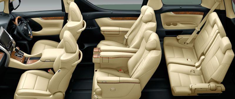 Toyota Alphard and Vellfire 30 Series HYBRID Executive Lounge seat colour