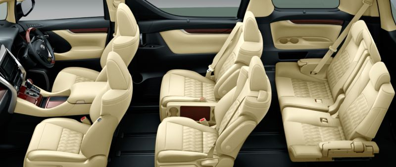 Toyota Alphard and Vellfire 30 Series HYBRID V seat colour