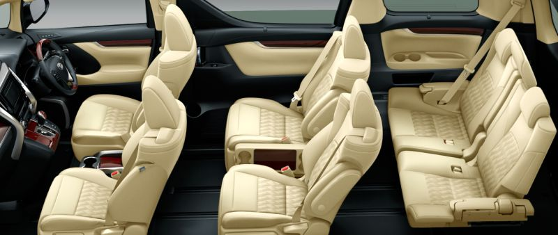 Toyota Alphard and Vellfire 30 Series V seat colour