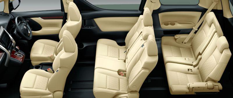 Toyota Alphard and Vellfire 30 Series X seat colour