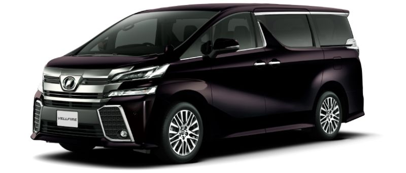 Toyota Alphard and Vellfire 30 Series colour option Burning Black Crystal Shine glass flakes 222