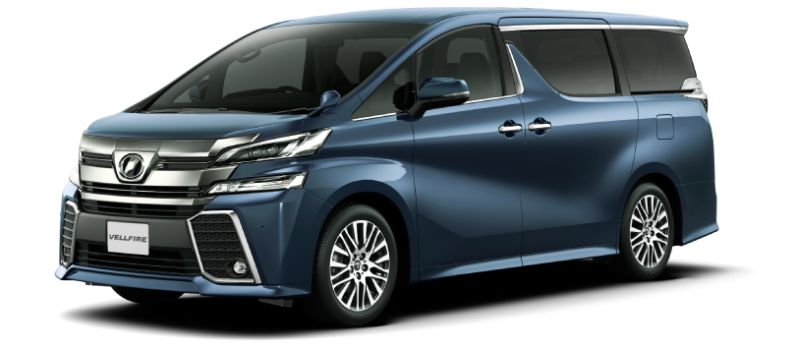 Toyota Alphard Hybrid 30 Series and Vellfire Hybrid 30 Series colour option Grayish Blue Mica Metallic 8V5
