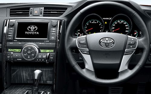 Toyota Mark X import interior steering wheel