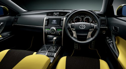 Toyota Mark X import special yellow interior