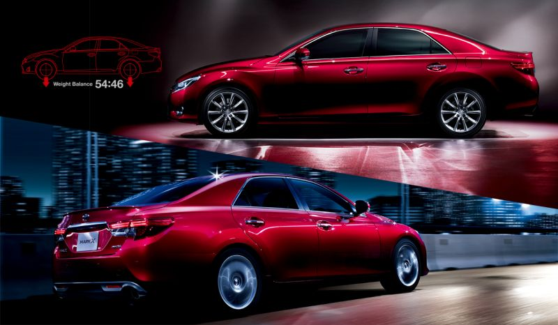 Toyota Mark X import red
