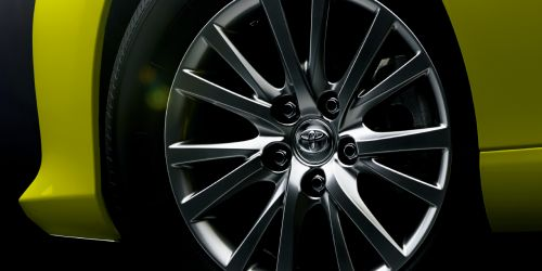 Toyota Mark X import special yellow wheel