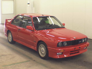 1988 BMW M3 coupe red
