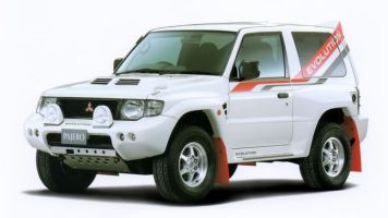 1999 Mitsubishi Pajero Evolution front