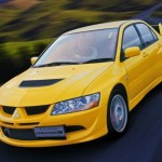 2004 Mitsubishi Lancer EVO 8 yellow front