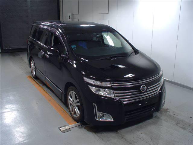 2011 Nissan Elgrand Highway Star Premium 350 4WD black auction front