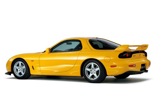 Mazda RX-7 Import yellow