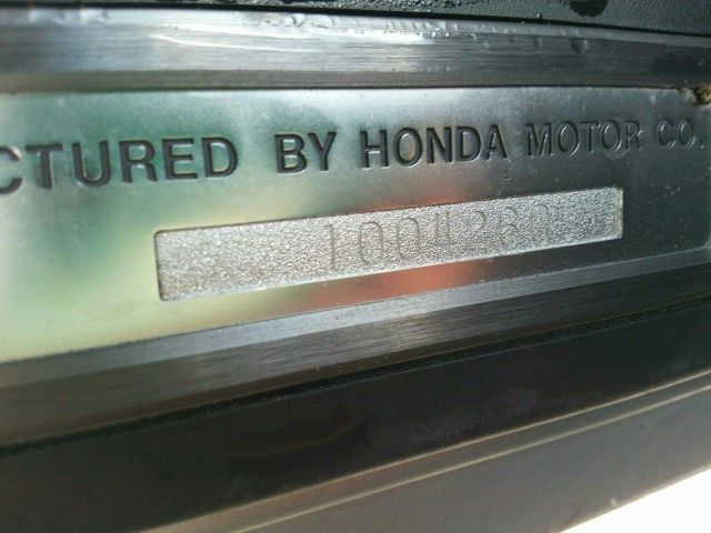 1992 Honda NSX coupe build plate