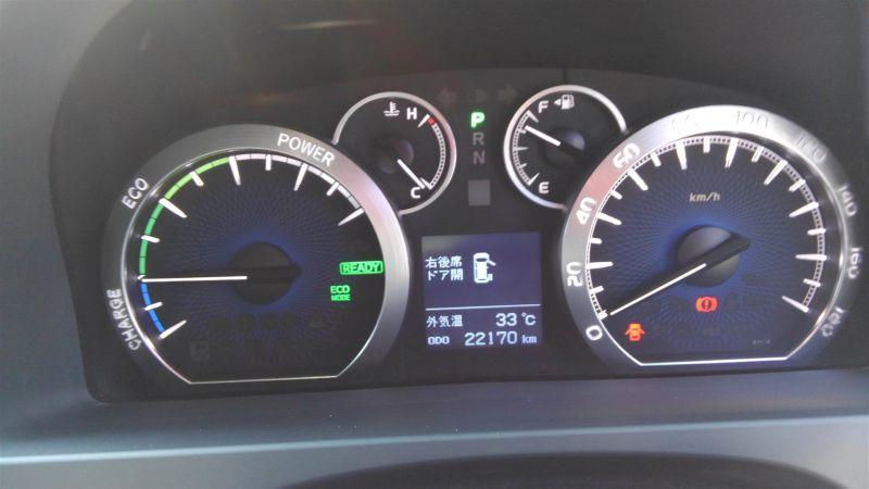 2012 Toyota Vellfire Hybrid ZR instrument panel