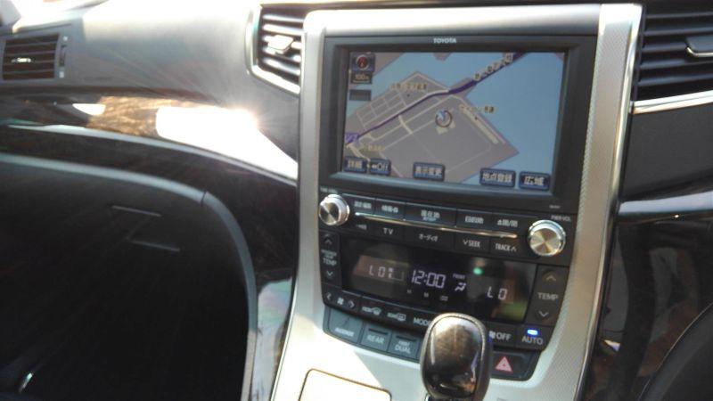 2012 Toyota Vellfire Hybrid ZR navigation