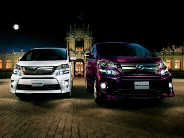 Toyota Vellfire Hybrid front comparison