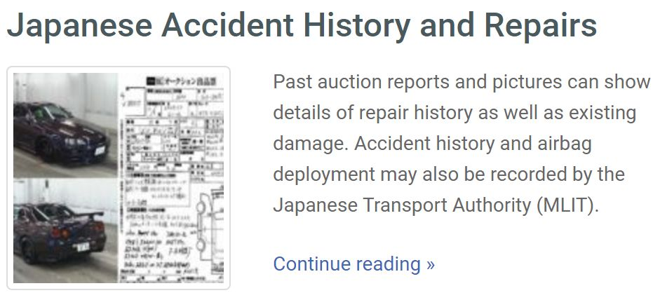 japan car accident-history