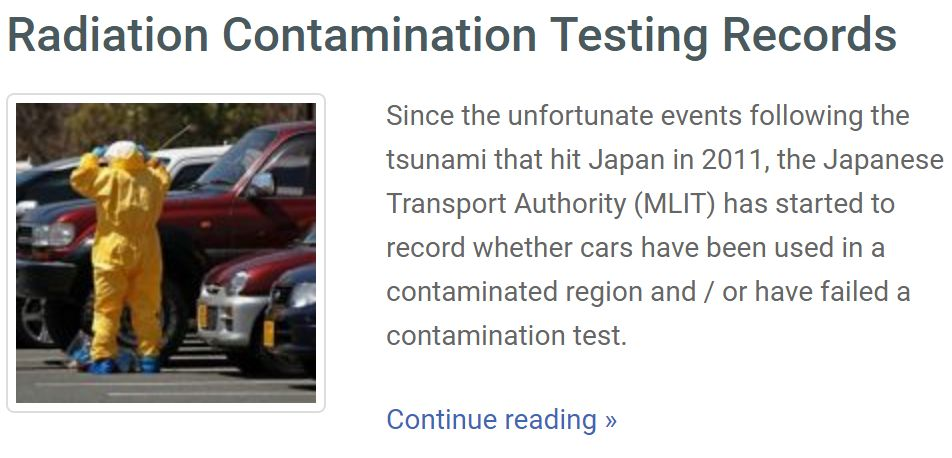 radiation japan car history