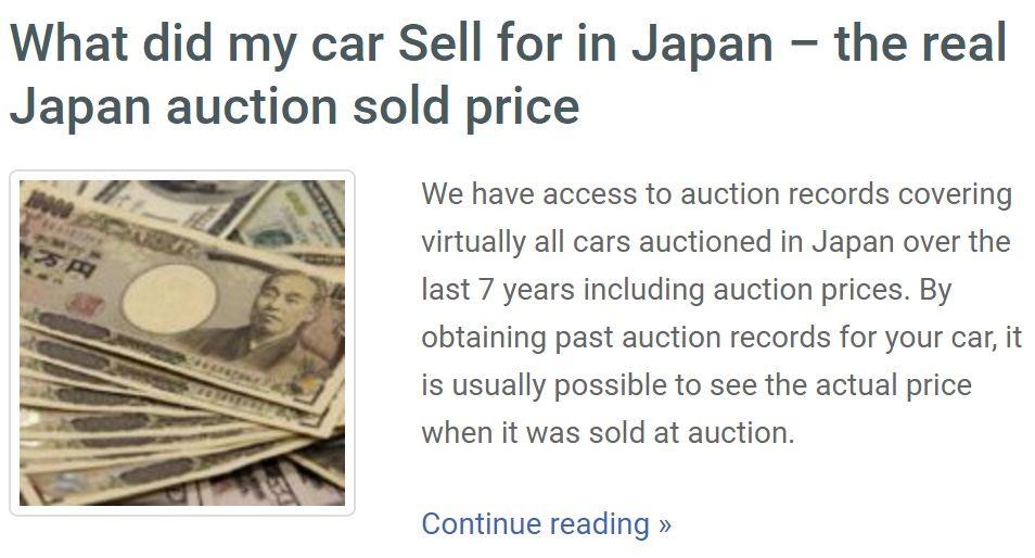 sale-price japan car history