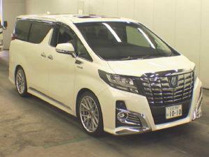 Alphard Hybrid front
