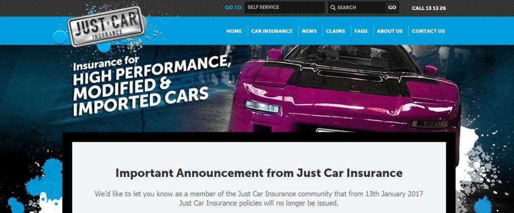 Just Car Insurance No More In 2017 Prestige Motorsport