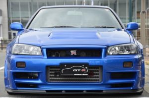 2002 R34 GTR VSpec 2 NUR with Z-Tune bodykit front