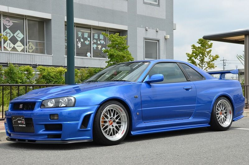 2002 R34 GTR VSpec 2 NUR with Z-Tune bodykit left front