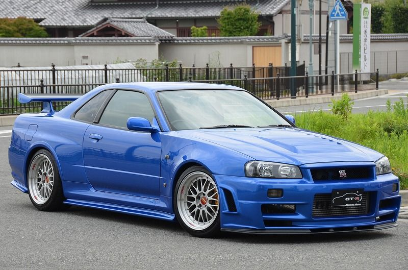 2002 R34 GTR VSpec 2 NUR with Z-Tune bodykit right front