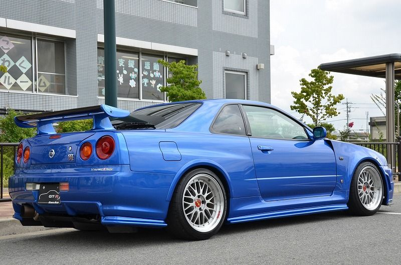 2002 R34 GTR VSpec 2 NUR with Z-Tune bodykit right rear