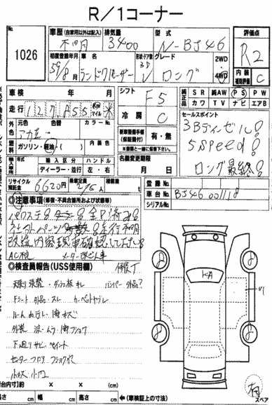 1984 Toyota Land Cruiser BJ46 Long auction report