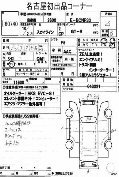 1998 Nissan Skyline R33 GTR auction report