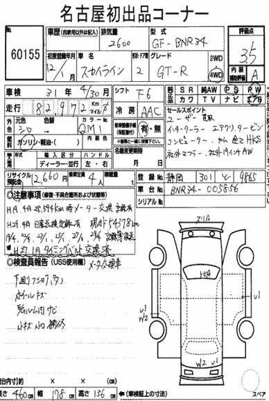 1999 Nissan Skyline R34 GTR auction report