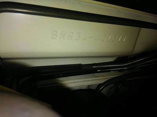 2001 Nissan Skyline R34 GTR chassis code