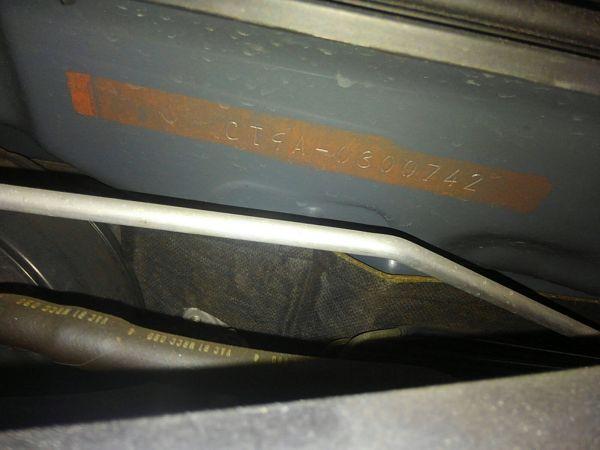 2004 Mitsubishi Lancer EVO 8 MR chassis code